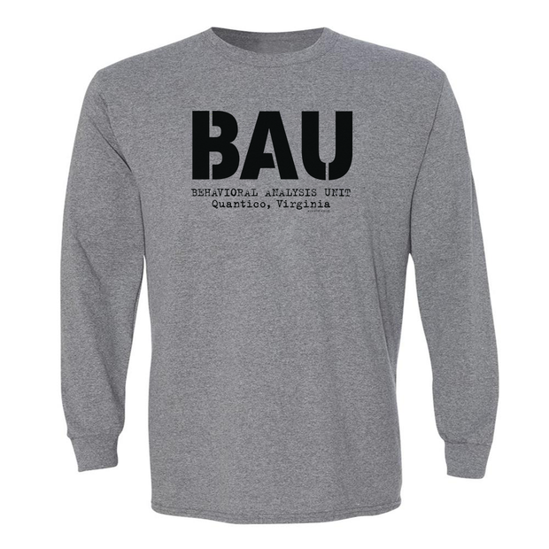 Criminal Minds BAU Adult Long Sleeve T-Shirt