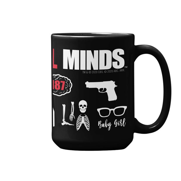 Criminal Minds Icon Mashup Black Mug | Official CBS Entertainment Store