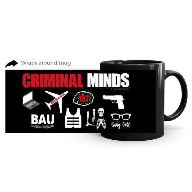 Criminal Minds Icon Mashup Black Mug