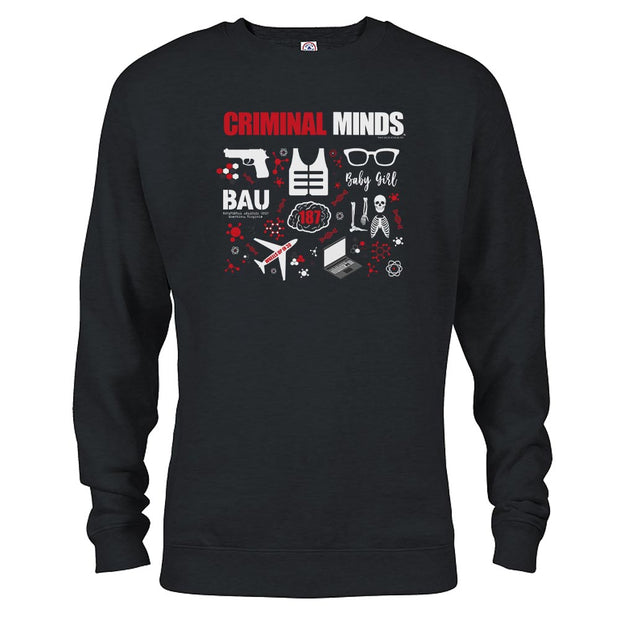 Criminal Minds Icon Mashup Fleece Crewneck Sweatshirt