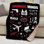 Criminal Minds Icon Mashup Sherpa Blanket