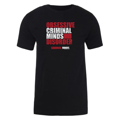Criminal Minds Obsessive Criminal Minds Disorder Adult Short Sleeve T-Shirt