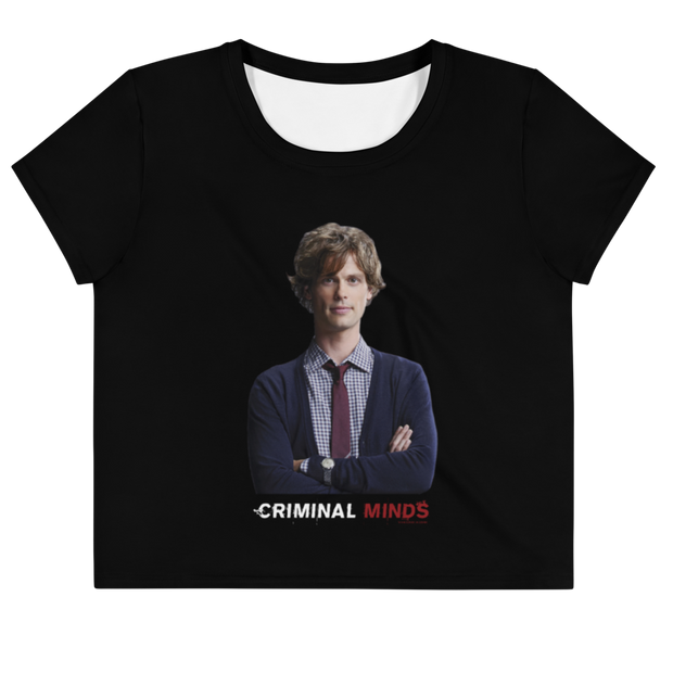 Criminal Minds Spencer Reid Women's All-Over Print Crop T-Shirt | Official CBS Entertainment Store