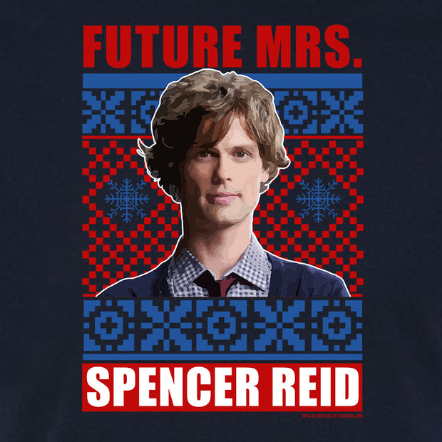 Criminal Minds Mrs. Spencer Reid Holiday Adult Short Sleeve T-Shirt | Official CBS Entertainment Store