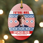 Criminal Minds Mrs. Spencer Reid Holiday Oval Ceramic Oranament | Official CBS Entertainment Store