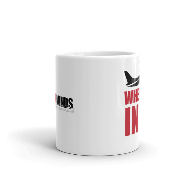 Criminal Minds Wheels Up White Mug