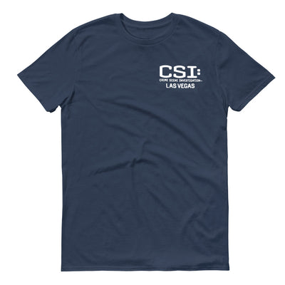 CSI: Crime Scene Investigation Left Chest Logo Adult Short Sleeve T-Shirt | Official CBS Entertainment Store