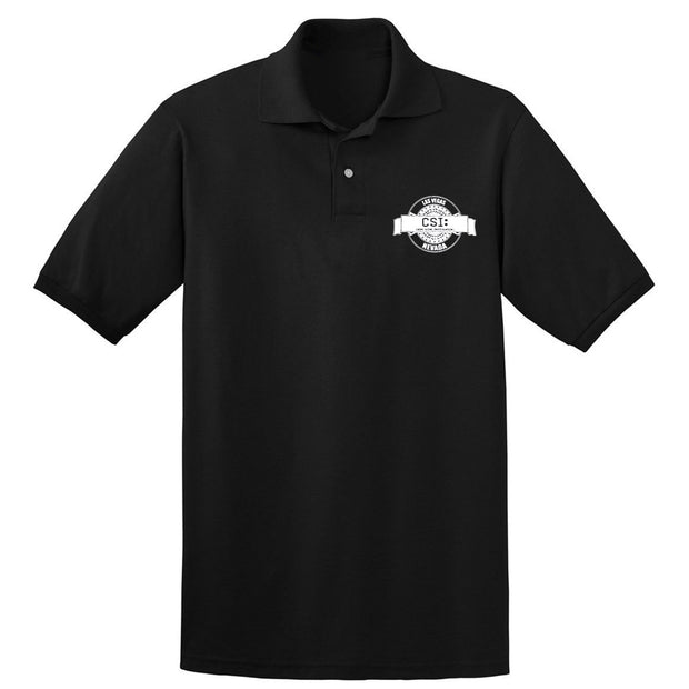CSI: Crime Scene Investigation Logo Badge Adult Short Sleeve Polo | Official CBS Entertainment Store
