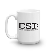 CSI: Crime Scene Investigation White Mug | Official CBS Entertainment Store