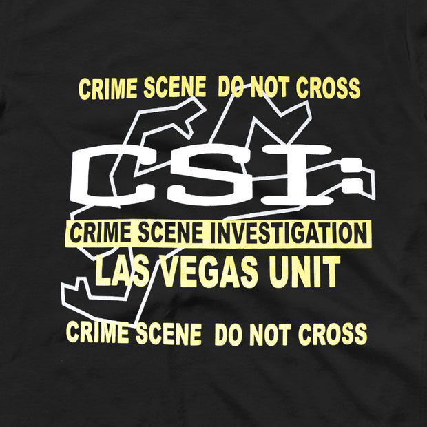 CSI: Crime Scene Investigation Body Outline Adult Short Sleeve T-Shirt | Official CBS Entertainment Store