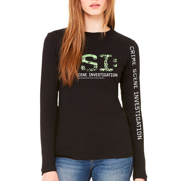 CSI: Crime Scene Investigation Thumbprint Logo Women's Long Sleeve T-Shirt | Official CBS Entertainment Store