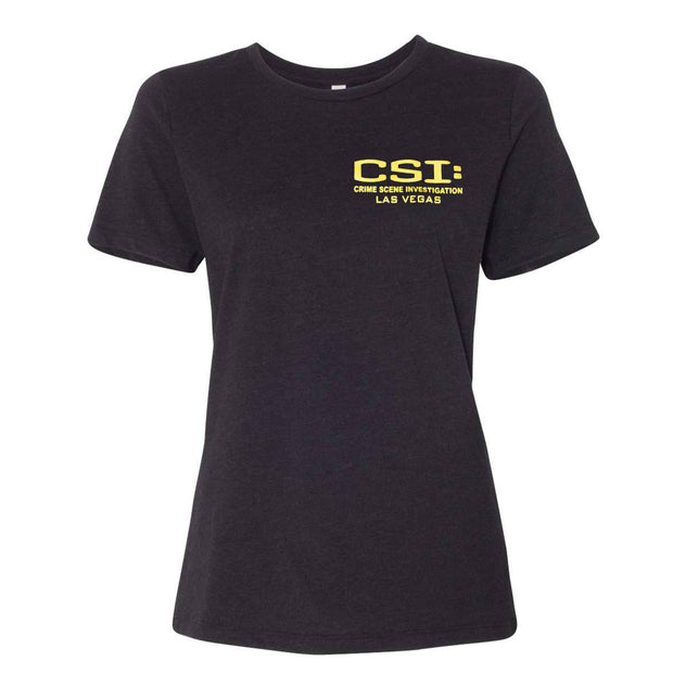CSI: Crime Scene Investigation Body Outline Women's Short Sleeve T-Shirt | Official CBS Entertainment Store