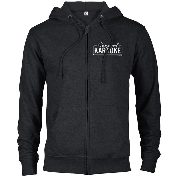 Carpool Karaoke Lightweight Zip Up Hooded Sweatshirt