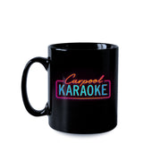 Carpool Karaoke Neon Logo 11 oz Black Mug | Official CBS Entertainment Store