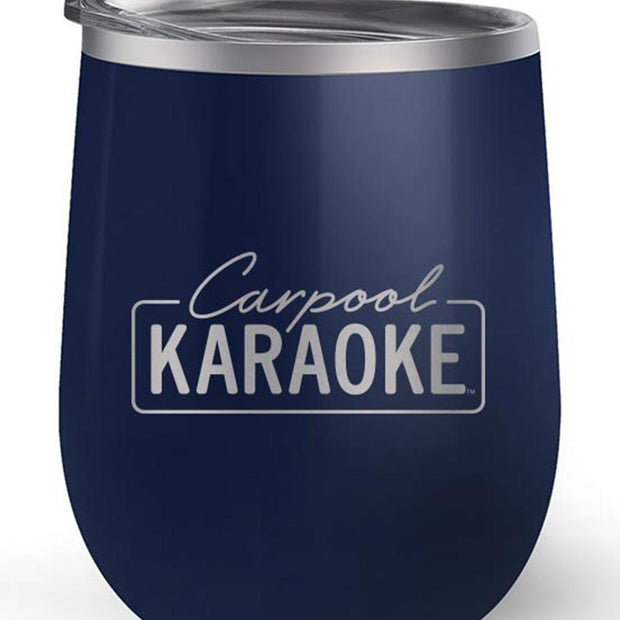 Carpool Karaoke Neon Logo 12 oz Stainless Steel Wine Tumbler | Official CBS Entertainment Store