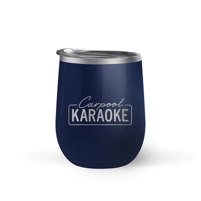 Carpool Karaoke Neon Logo 12 oz Stainless Steel Wine Tumbler