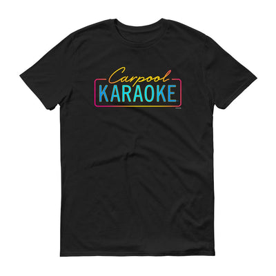 Carpool Karaoke Neon Logo Adult Short Sleeve T-Shirt