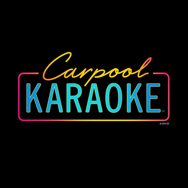 Carpool Karaoke Neon Logo Adult Short Sleeve T-Shirt | Official CBS Entertainment Store