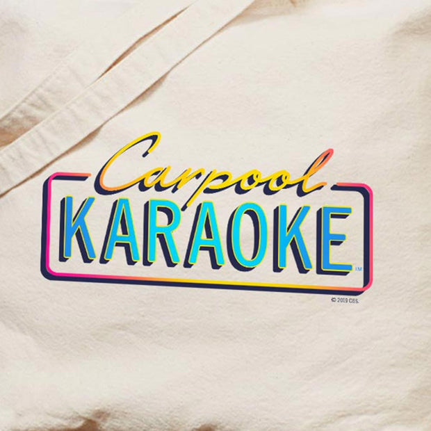 Carpool Karaoke Neon Logo Canvas Tote Bag | Official CBS Entertainment Store