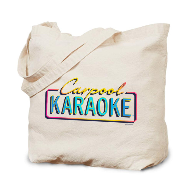 Carpool Karaoke Neon Logo Canvas Tote Bag
