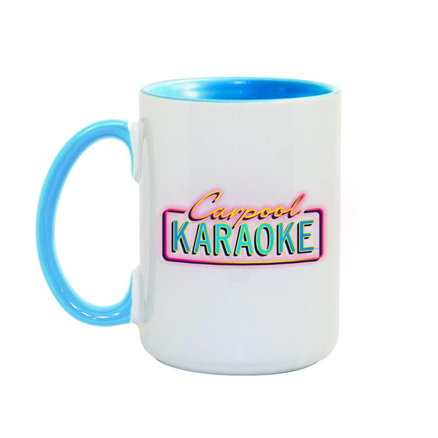 Carpool Karaoke Neon Logo Colored 15 oz Mug | Official CBS Entertainment Store