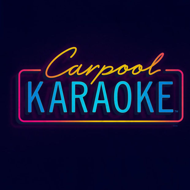 Carpool Karaoke Neon Logo Sherpa Blanket | Official CBS Entertainment Store