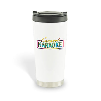 Carpool Karaoke Neon Logo Travel Mug