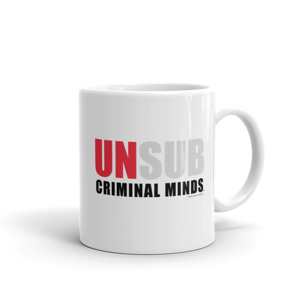Criminal Minds Unsub 11 oz White Mug