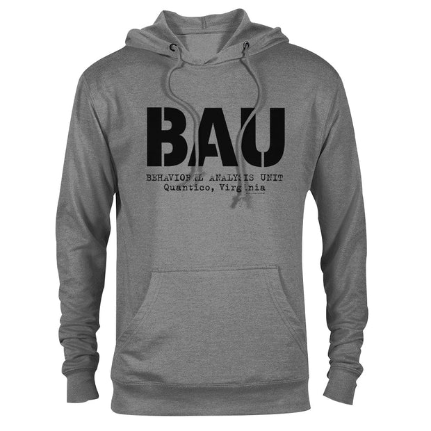 Criminal Minds BAU Grey Lightweight Hooded Sweatshirt | Official CBS Entertainment Store