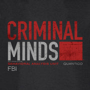 Criminal Minds Distressed BAU Quantico Lightweight Hooded Sweatshirt