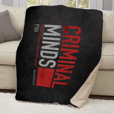 Criminal Minds Distressed BAU Quantico Sherpa Blanket