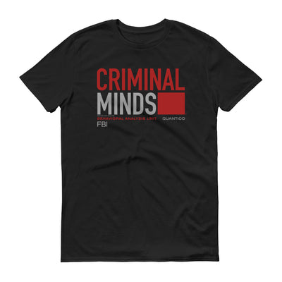Criminal Minds BAU Quantico Adult Short Sleeve T-Shirt | Official CBS Entertainment Store