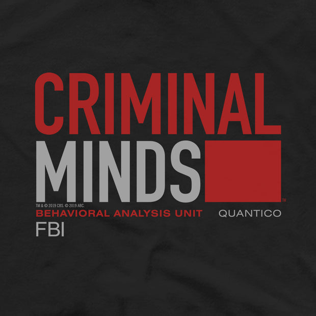 Criminal Minds BAU Quantico Adult Short Sleeve T-Shirt