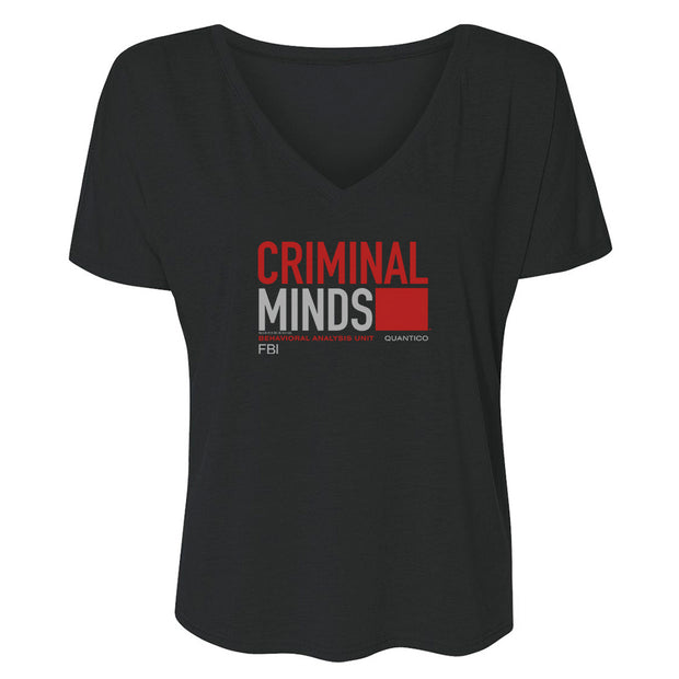 Criminal Minds BAU Quantico Women's Relaxed V-Neck T-Shirt