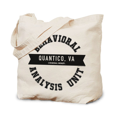 Criminal Minds Behavioral Analysis Unit Canvas Tote Bag | Official CBS Entertainment Store
