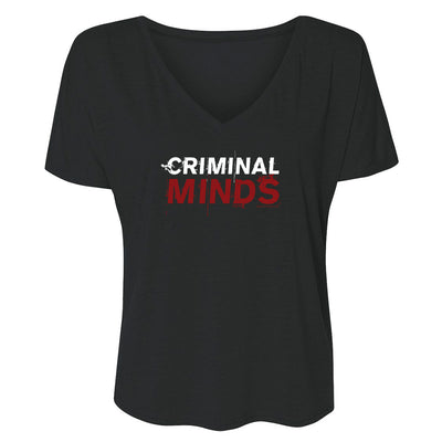 Criminal Minds Logo Women's Relaxed V-Neck T-Shirt