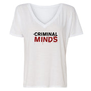 Criminal Minds Logo Women's Relaxed V-Neck T-Shirt | Official CBS Entertainment Store