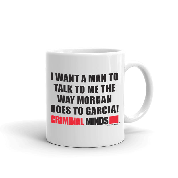 Criminal Minds Morgan and Garcia White Mug