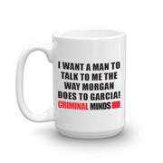 Criminal Minds Morgan and Garcia White Mug | Official CBS Entertainment Store