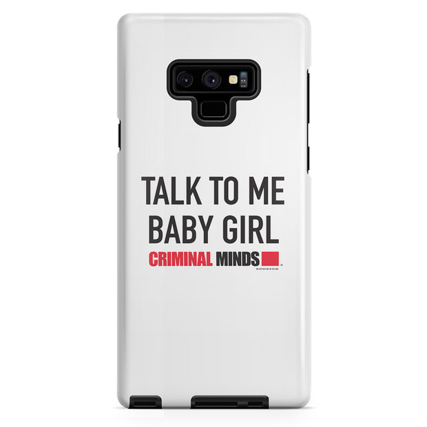 Criminal Minds Talk To Me Baby Girl Tough Phone Case | Official CBS Entertainment Store