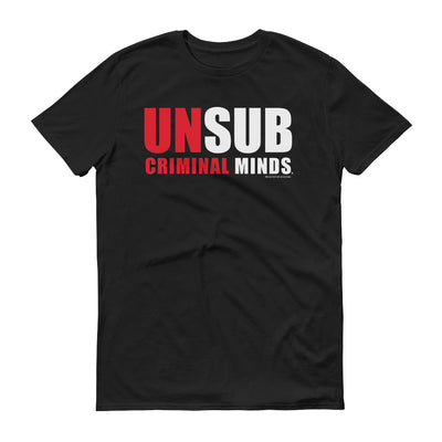 Criminal Minds Unsub Adult Short Sleeve T-Shirt