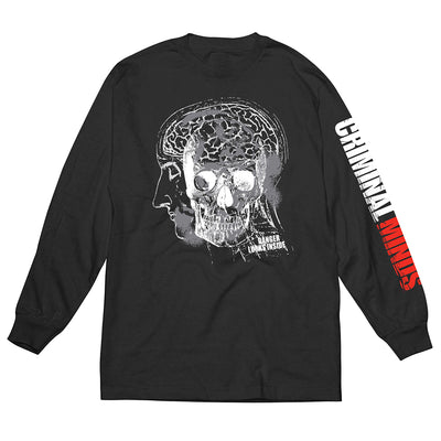 Criminal Minds Danger Logo Adult Long Sleeve T-Shirt | Official CBS Entertainment Store