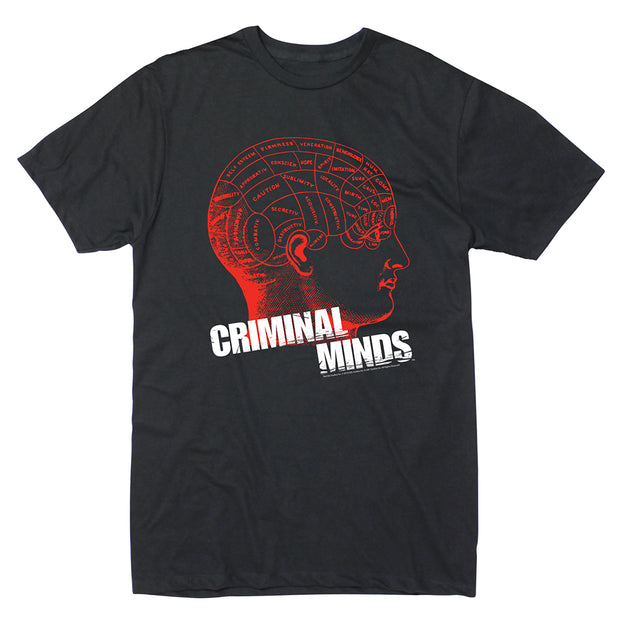 Criminal Minds Phrenology Adult Short Sleeve T-Shirt | Official CBS Entertainment Store