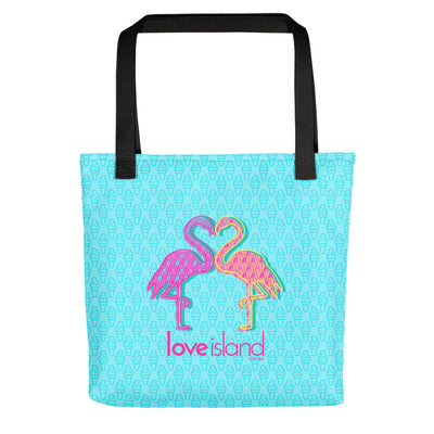 Love Island Pattern Flamingo Premium Tote Bag | Official CBS Entertainment Store