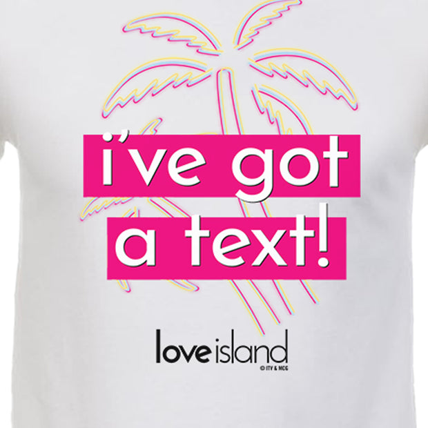 Love Island I've Got A Text Adult Short Sleeve T-Shirt | Official CBS Entertainment Store