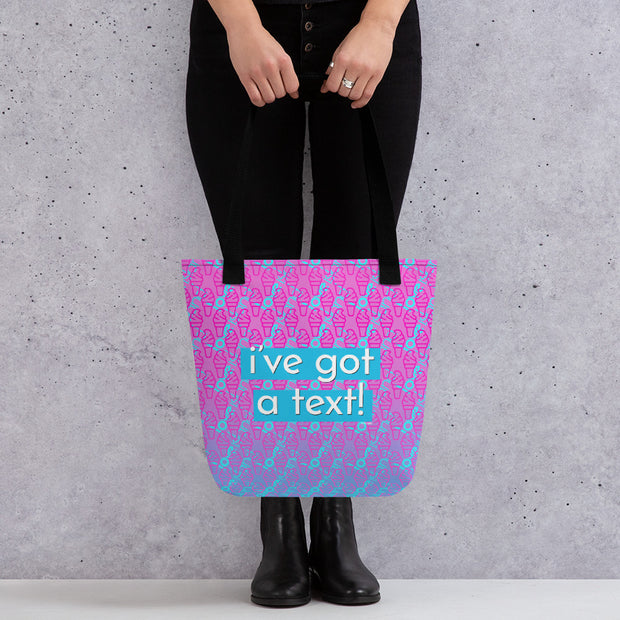 Love Island I've Got A Text Purple Pattern Premium Tote Bag | Official CBS Entertainment Store