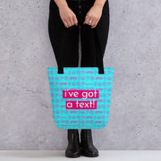 Love Island I've Got A Text Pattern Premium Tote Bag | Official CBS Entertainment Store