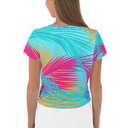 Love Island Tropical Flamingo Women's All-Over Print Crop T-Shirt | Official CBS Entertainment Store