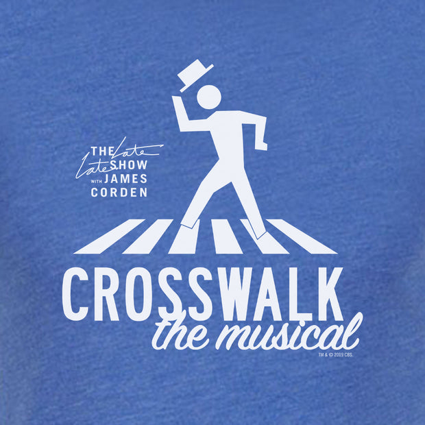 The Late Late Show with James Corden Crosswalk the Musical Logo Men's Tri-Blend T-Shirt