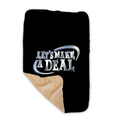 Let's Make A Deal Logo Sherpa Blanket